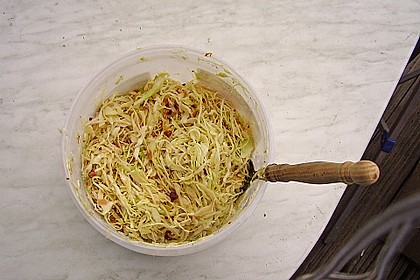 Bayrischer Krautsalat mit Speck 20