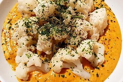 Blumenkohlröschen in Karottensoße 10