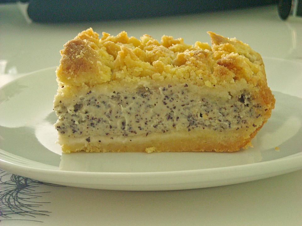Vanille Mohn Kuchen Mit Streusel Von Semmerl Chefkoch De
