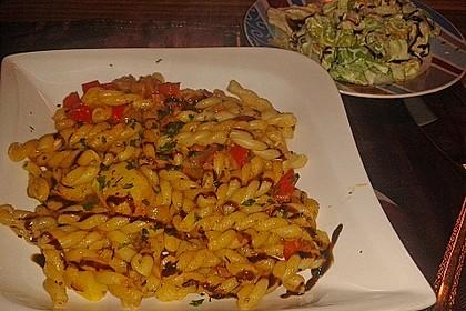 Nudeln, Kartoffeln und Speck