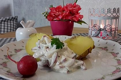 Kartoffeln mit Radieschen - Dip
