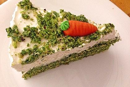 Süßer grüner Spinatkuchen (Bild)