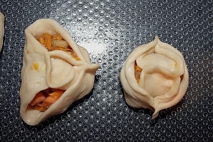 Herbst - Manti mit Süßkartoffeln und Hokkaido - Kürbis 1