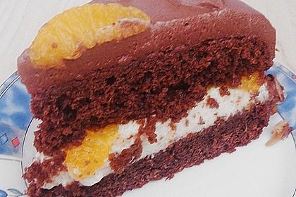 Nougat - Orangencreme - Torte 17