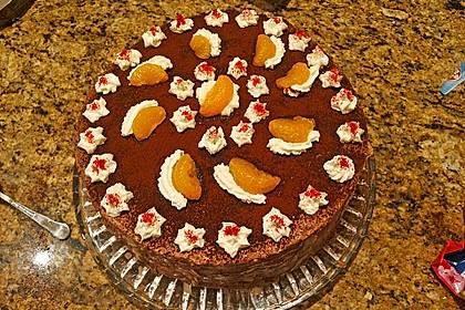 Nougat - Orangencreme - Torte 6