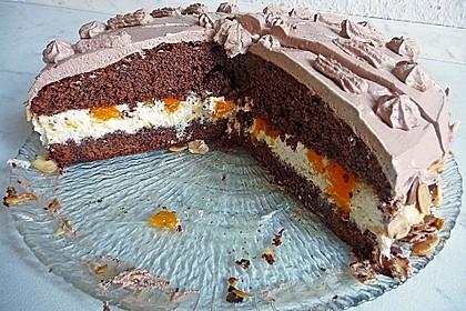 Nougat - Orangencreme - Torte 7