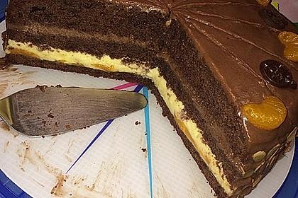 Nougat - Orangencreme - Torte 3