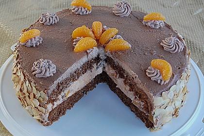 Nougat - Orangencreme - Torte