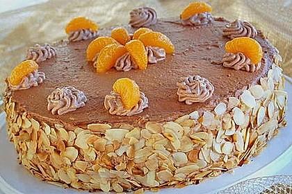 Nougat - Orangencreme - Torte 4