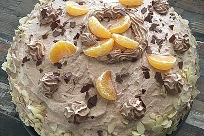 Nougat - Orangencreme - Torte 2