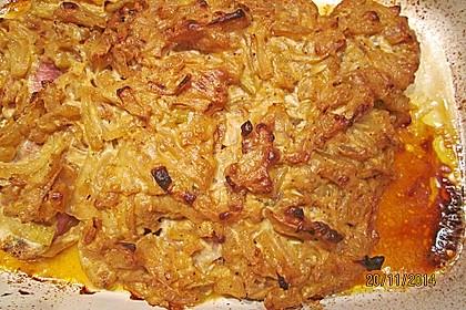 Überbackenes Schweinefilet mit Zwiebel - Senf - Kruste 8