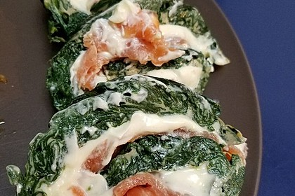 Spinat - Lachs - Rolle 10