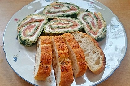 Spinat - Lachs - Rolle
