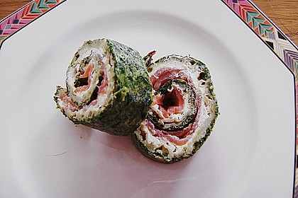 Spinat - Lachs - Rolle 8