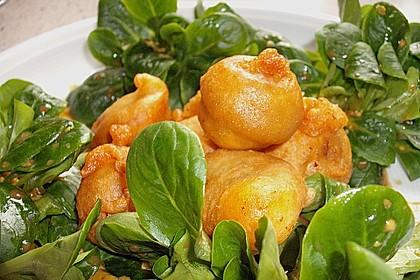 Zwiebelringe und Brokkoli im Bierteig 4