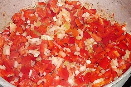 Hähnchenbrüste mit Paprika - Sahnesauce 6