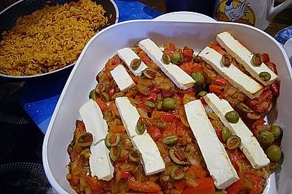 Leberkäse mit Paprika und Schafskäse überbacken 9