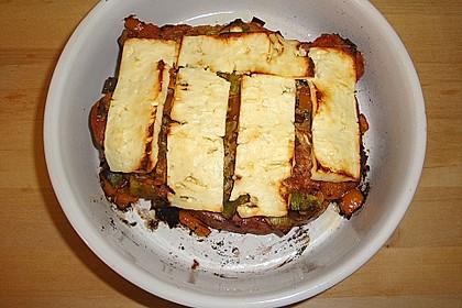 Leberkäse mit Paprika und Schafskäse überbacken 5