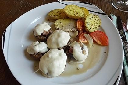 Illes leicht gefüllte Champignonköpfe auf Ofenkartoffeln 15