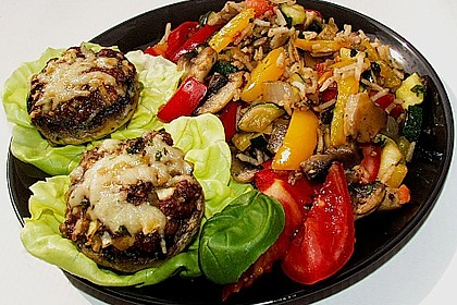 Illes leicht gefüllte Champignonköpfe auf Ofenkartoffeln 7