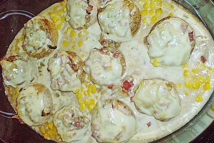 Illes leicht gefüllte Champignonköpfe auf Ofenkartoffeln 26