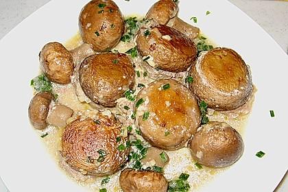 Illes leicht gefüllte Champignonköpfe auf Ofenkartoffeln 8