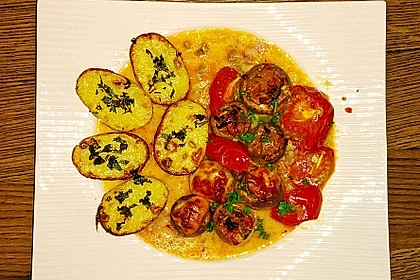 Illes leicht gefüllte Champignonköpfe auf Ofenkartoffeln 2