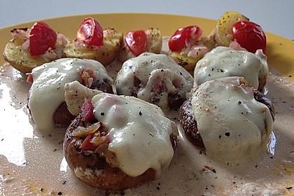 Illes leicht gefüllte Champignonköpfe auf Ofenkartoffeln 12