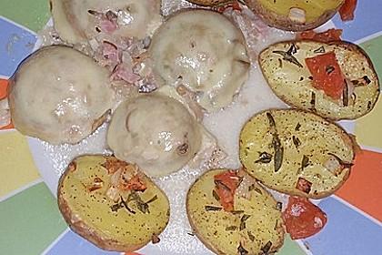 Illes leicht gefüllte Champignonköpfe auf Ofenkartoffeln 19