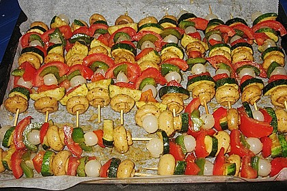 Illes Gemüsespieße aus dem Backofen 11