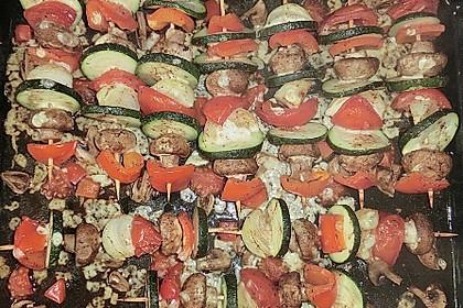 Illes Gemüsespieße aus dem Backofen 30