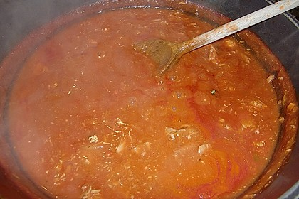 Nudeln in leichter, sämiger Thunfisch-Tomaten-Käse Sauce 128