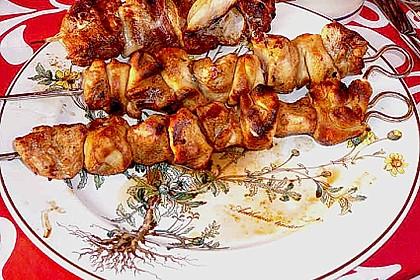 Grillspieß mit Huhn und Brezenteig 19