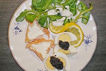 Räucherlachsmousse auf gebratenem Spinatsalat 5