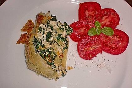 Spinat - Feta Blätterteigstrudel 7