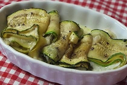 Zucchiniröllchen mit Schafskäse oder Mozzarella 1