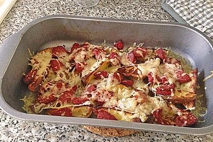 Backofenkartoffeln mit türkischer Knoblauchwurst 2