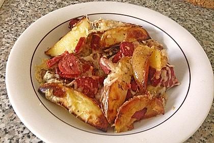 Backofenkartoffeln mit türkischer Knoblauchwurst 1