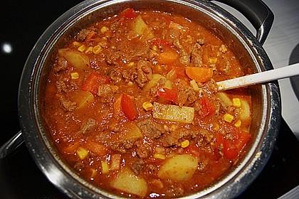 Bunter Fleisch-Kartoffel Topf - Bauerneintopf 4