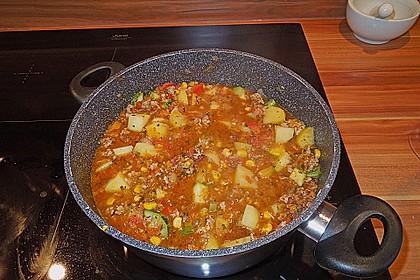 Bunter Fleisch-Kartoffel Topf - Bauerneintopf 9
