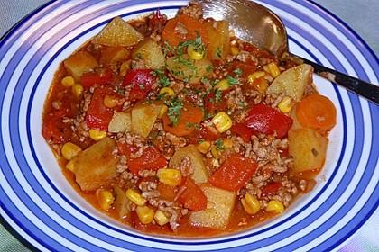 Bunter Fleisch-Kartoffel Topf - Bauerneintopf 5