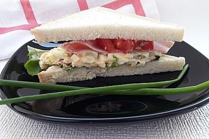 Eiersalat  und Eiersalat - Sandwich (Bild)
