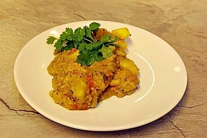 Kartoffel - Curry mit Erdnüssen 1