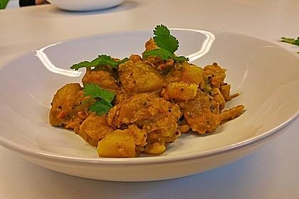 Kartoffel - Curry mit Erdnüssen 2