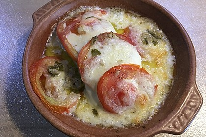 Marinierter Lachs, überbacken mit Tomaten und Mozzarella 7