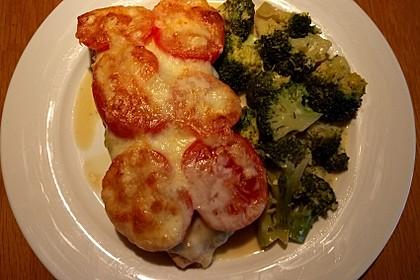 Marinierter Lachs, überbacken mit Tomaten und Mozzarella 6