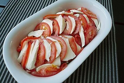 Marinierter Lachs, überbacken mit Tomaten und Mozzarella 13