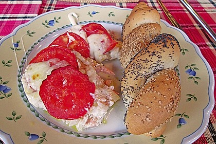 Marinierter Lachs, überbacken mit Tomaten und Mozzarella 4