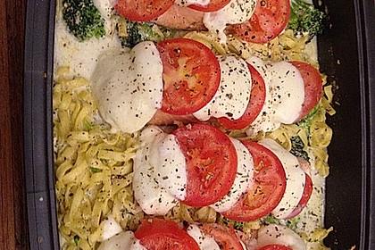 Marinierter Lachs, überbacken mit Tomaten und Mozzarella 11