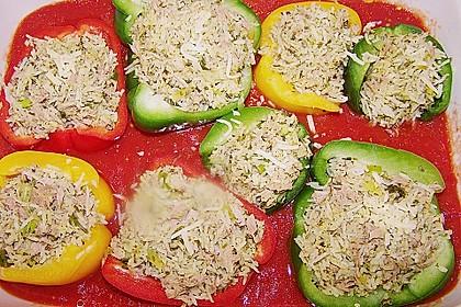 Gefüllte Paprika mit Thunfisch 7